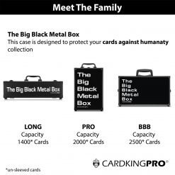Cardkingpro Meet The Family Image Showing Cases with The Big Black Metal Box Logo