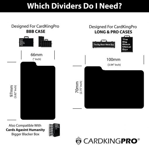 Cardkingpro Index Divider Compatibility Chart