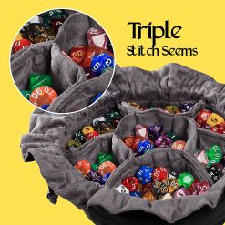 Cardkingpro Immense Dice Bags with Pockets - Black - Showing Dice
