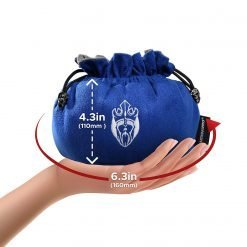 Cardkingpro Immense Dice Bag Blue Hand Holding Size Guide