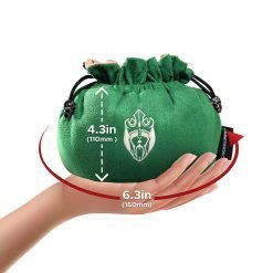 Cardkingpro Immense Dice Bag Green Hand Holding Size Guide