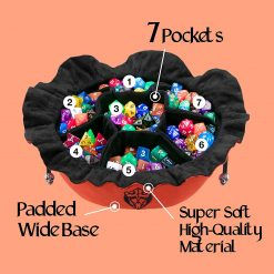 Cardkingpro Immense Dice Bags with Seven 7 Pockets Orange