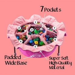 Cardkingpro Immense Dice Bags with Seven 7 Pockets Pink
