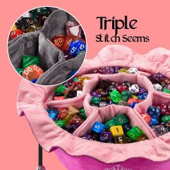 Cardkingpro Immense Dice Bags with Pockets – Pink - Showing Dice