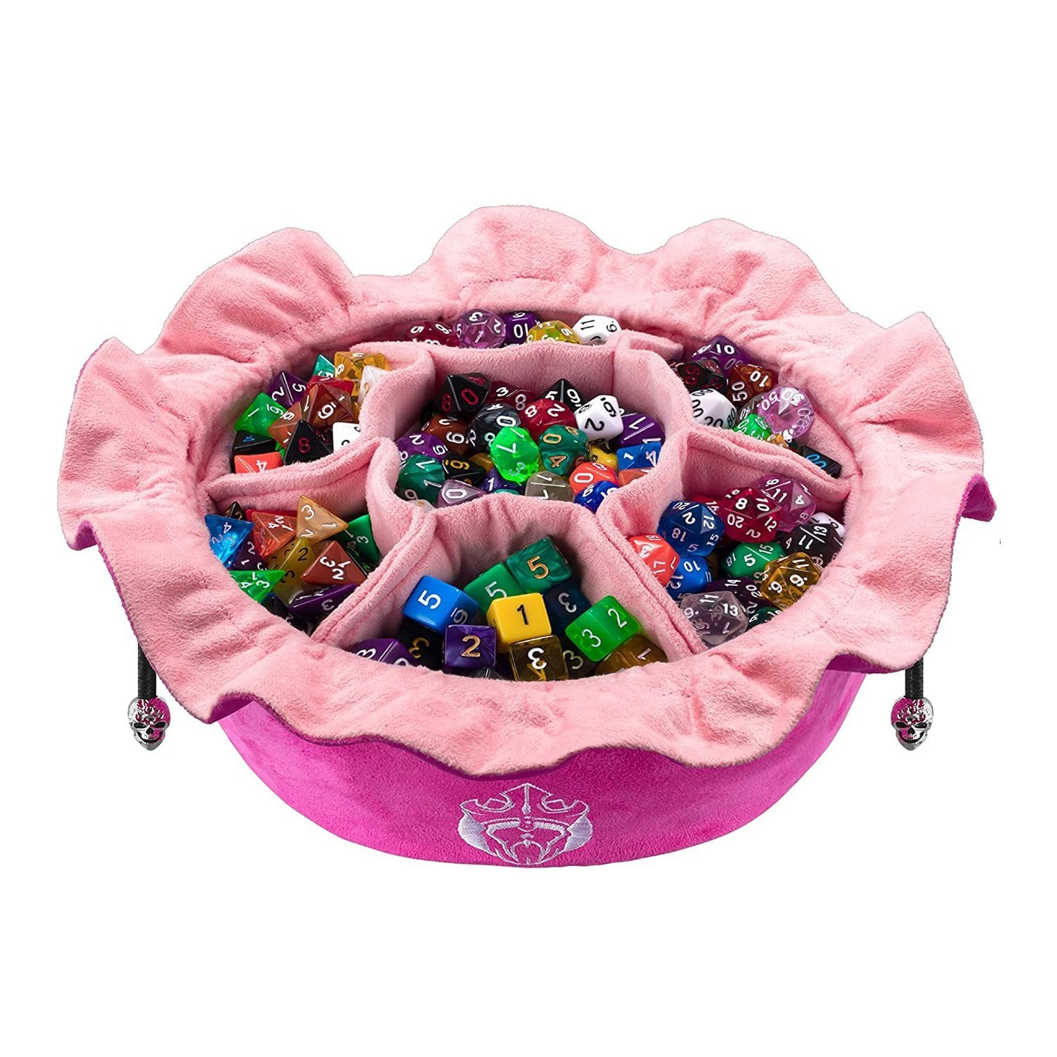 Cardkingpro Immense Dice Bags with Pockets – Pink
