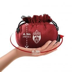 Cardkingpro Immense Dice Bag Red Hand Holding Size Guide