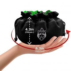 Cardkingpro Immense OCD Dice Bag Black & Green Hand Holding Size Guide