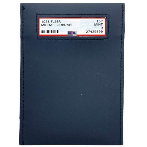 UV Protective Graded Card Sleeve Small Window With Michael Jordan PSA Card
