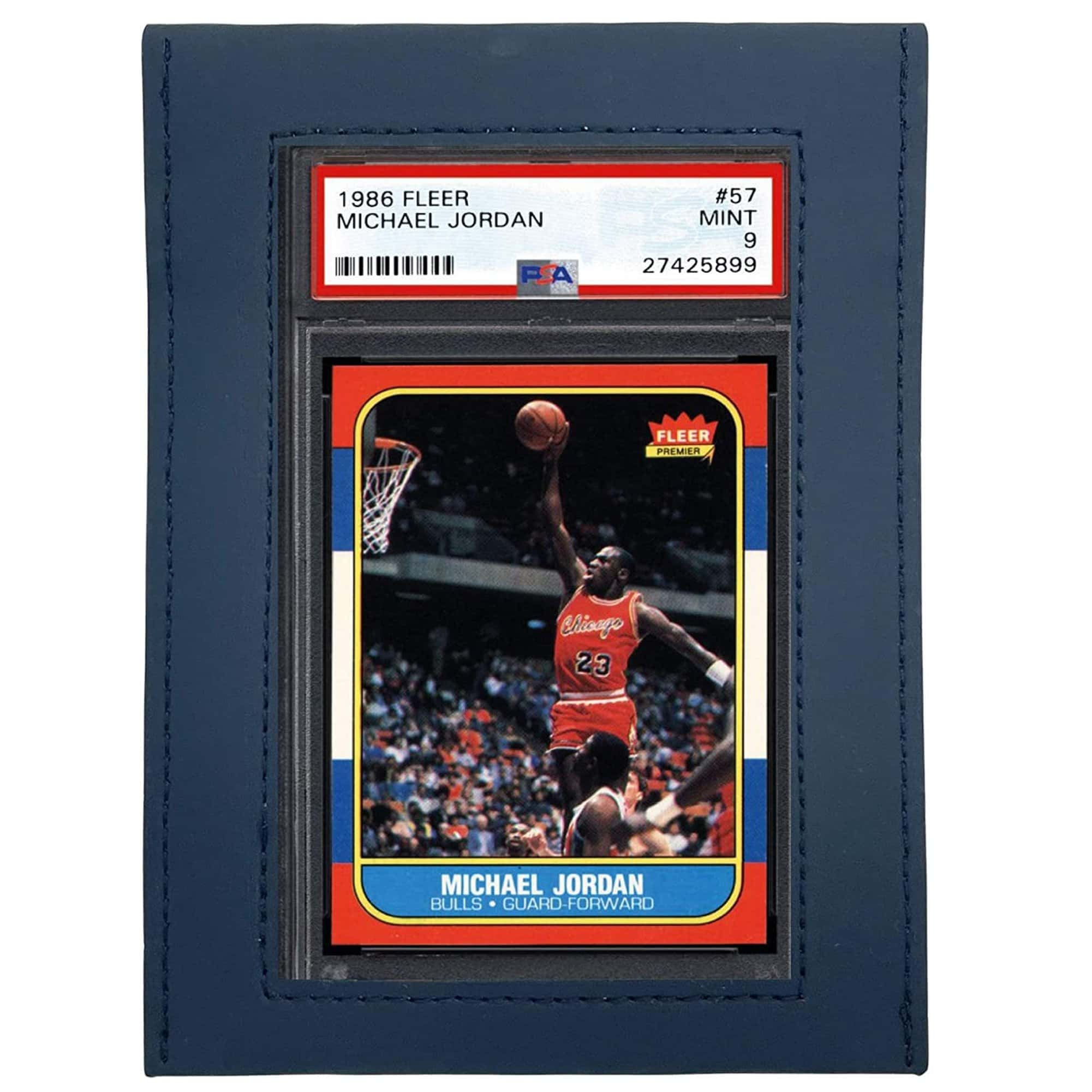 UV Protective Graded Card Sleeve Large Window With Michael Jordan PSA Card