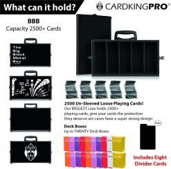 Cardkingpro BBB RPG Card Stoage Case Capacity 2500+ Cards