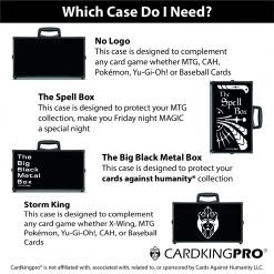 Cardkingpro BBB RPG Card Storage Case Showing All Four Versions Currently Available