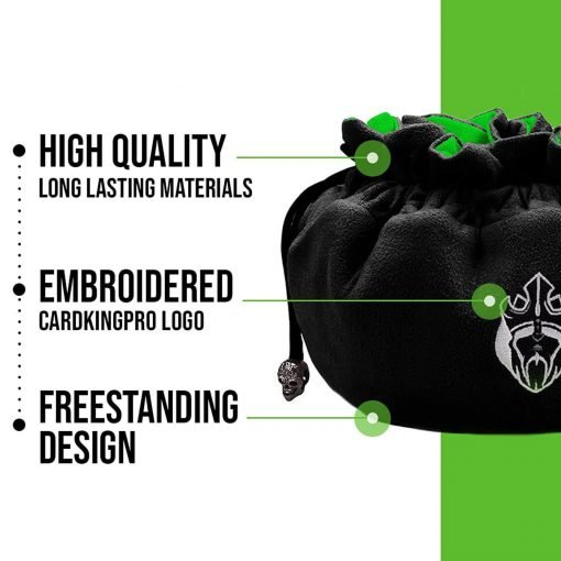 Immense – ODD Edition – Dice Bags with 15 Pockets – Black/Green