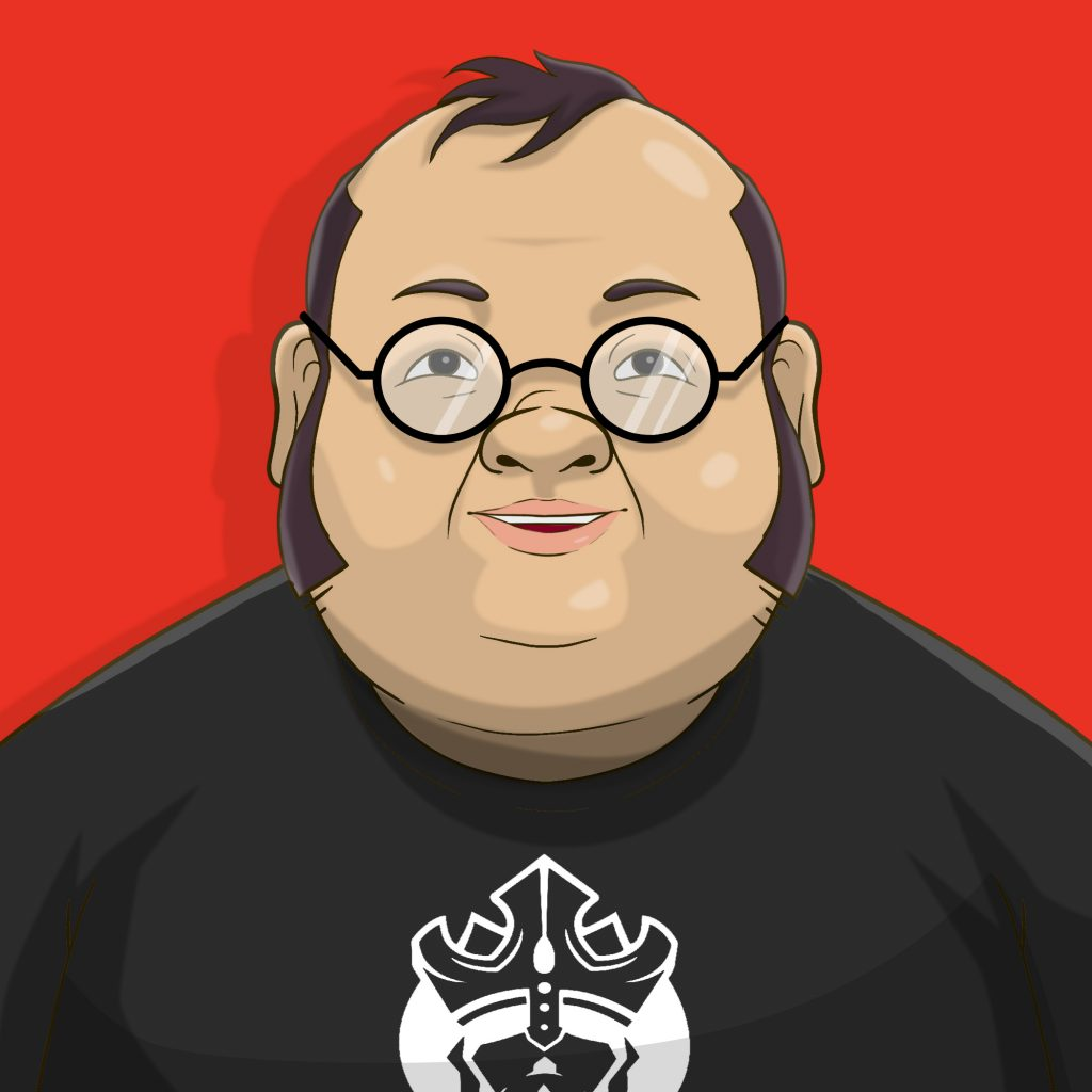 mark happy from cardkingpro red background