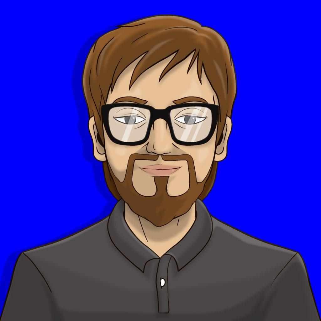 chris happy from cardkingpro blue background