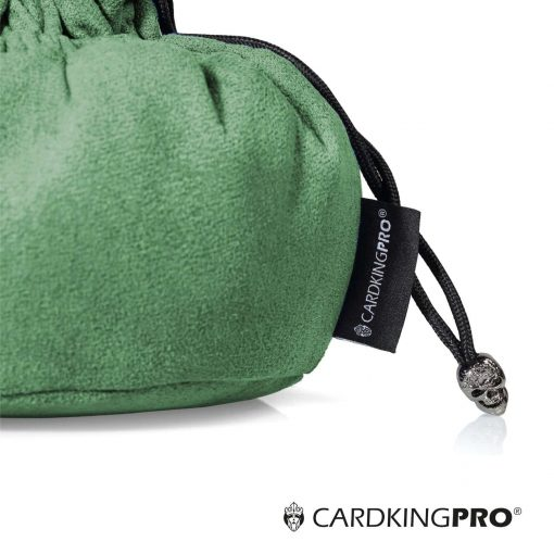 Cardkingpro Immense Dice Bags with Pockets – Green Colored