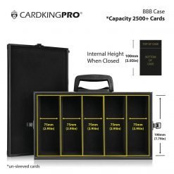 Cardkingpro BBB RPG Game Storage Case Image Showing Dimensions Size